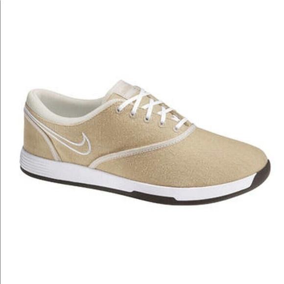 NIKE women's Lunarlon beige golf shoes 8